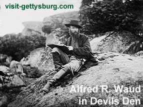 Alfred R. Waud sketching at Devils Den