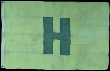 Green Civil War Hospital Flag