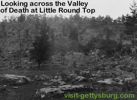 Valley of Death and Bloody Run in Gettysburg 1863