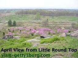 April View from Little Round Top